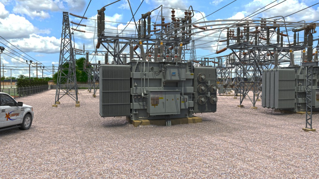 Power substation 3d laser scan landpoint for Substation design pdf