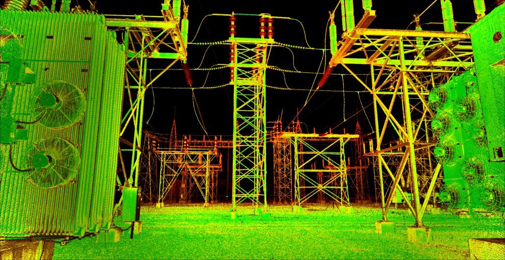 power substation 3d laser scan