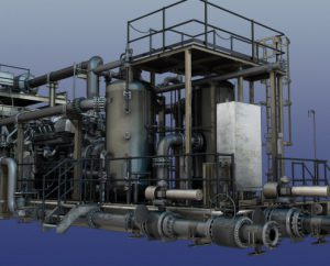 3D model of construction skid