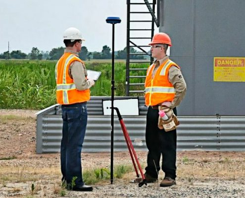 Land Surveyors On a Site