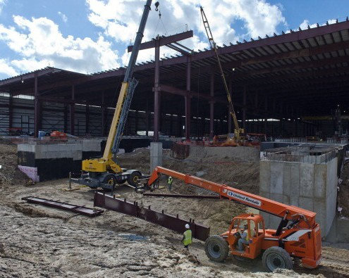 Steel Pipe Manufacturing Facility - Land Survey, Construction Staking