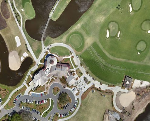 A drone's view of a golf course