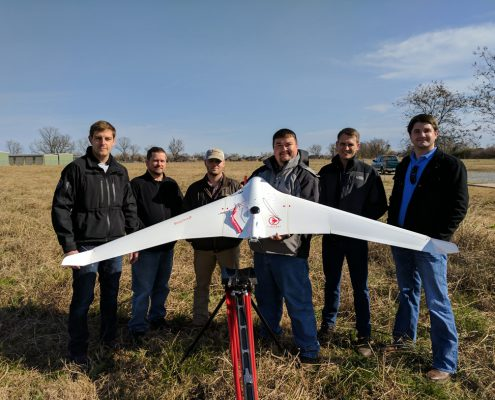 The Landpoint team with a UAV